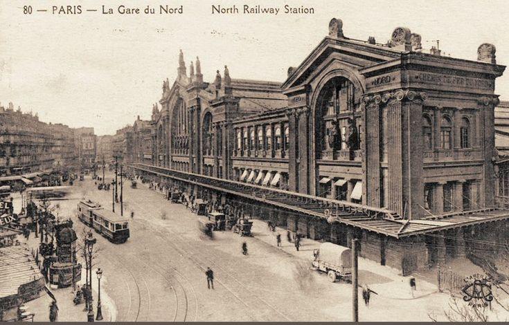 Vue générale de la gare du Nord, vers 1910  (Paris 10ème)