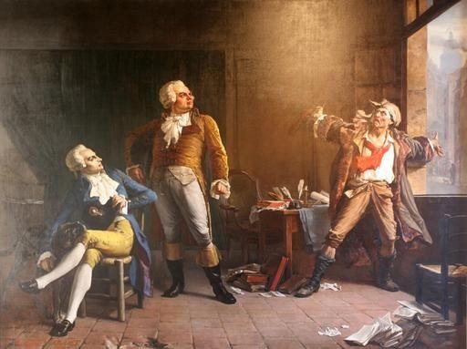 Robespierre, Danton et Marat liberté (francaise)