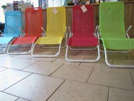 Strandbed in leuke kleurtjes