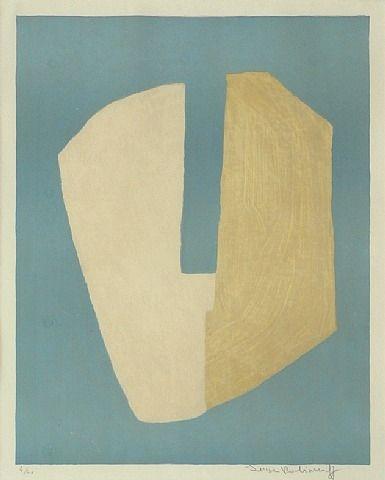 Serge Poliakoff, Composition jaune et bleue