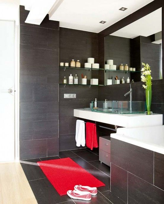 Bathroom Designs Black And Red 25 best bathroom ideas images on pinterest | bathroom ideas