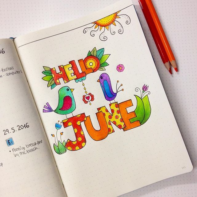 I've FINALLY started working on my June set up for my bullet journal. Hello June! | SnapWidget