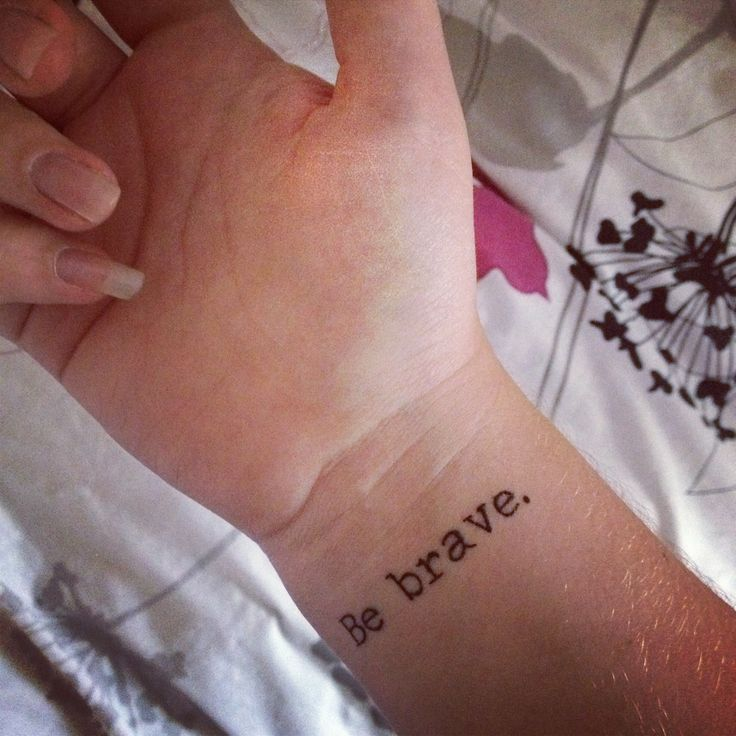 I would love to have this tattoo! Bc it would remind me to be brave when going through a rough situation and it would make me think of my all time favorite fandom. :)