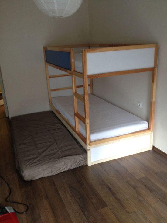 IKEA KURA Double Bunk Bed + Extra hidden bed (Sleeps 3!) - IKEA Hackers - IKEA Hackers