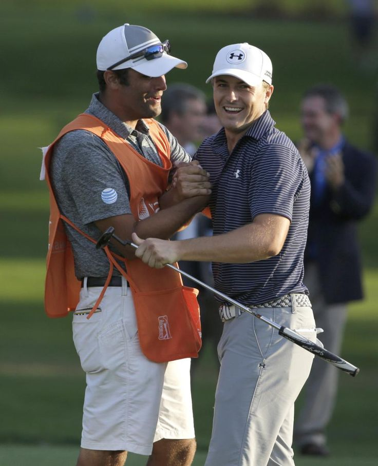 Jordan Spieth, Celebrates With Caddie Michael Greller After Winning The 2015 Valspar Championship Golf Tournament On The Third Playoff Hole Sunday, March 15, 2015 At Innisbrook. -YahooSports