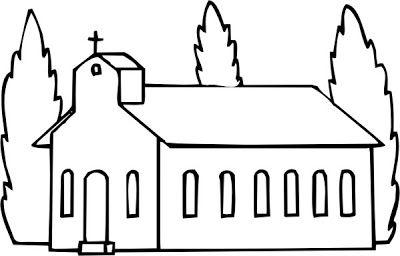 Dibujos Cristianos para colorear: Dibujo de Iglesias para colorear | Dibujos infantiles, imagenes cristianas