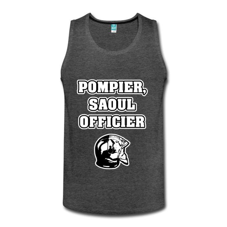 POMPIER, SAOUL OFFICIER, T-shirt à s'offrir ici : https://shop.spreadshirt.fr/jeux-de-mots-francois-ville/les+t-shirts+pour+pompiers?q=T516877  #pompiers #leshommesdufeu #tshirt #sirène #alarme #feu #flammes #incendie #foyer #échelle #lance #rampe #sapeur #casque #caserne #secours #ambulancier #brancardier #volontaire #bénévole #braise #bouche #JEUXDEMOTS #FRANCOISVILLE #HUMOUR #DRÔLE #CITATION