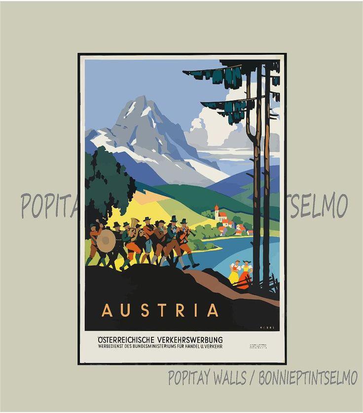 Austria Travel Poster,Austria Poster Art Print, Austria Tourism Poster, Europe…