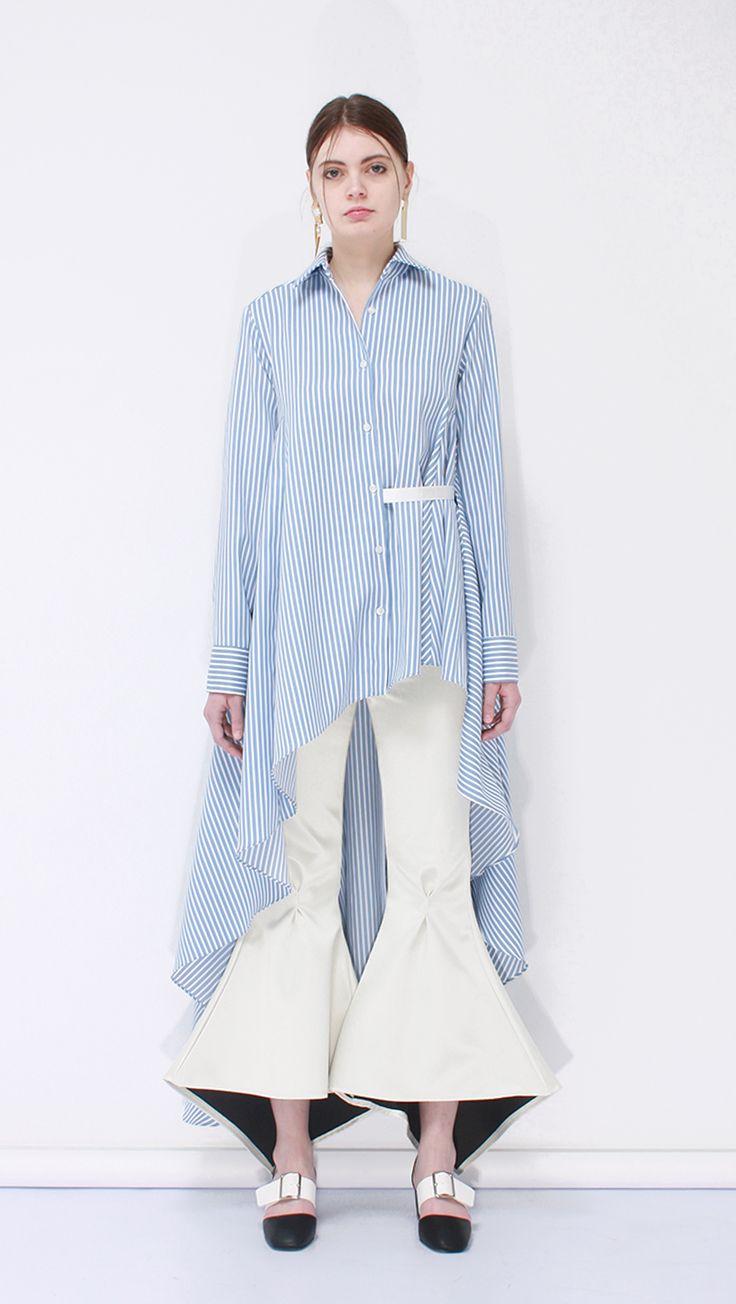 Kish Ruffle Shirt | LOÉIL #ruffle #stripes