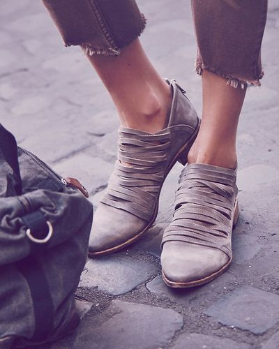 Go to shoe. Free People Lost Valley Ankle Boot Love the shape, heel height, color and suede material.