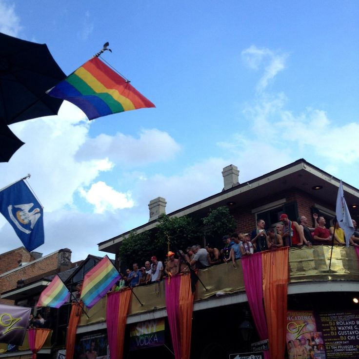 The French Quarter is in full celebration mode during Southern Decadence in New Orleans.