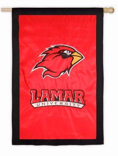 Lamar University Applique House Flag