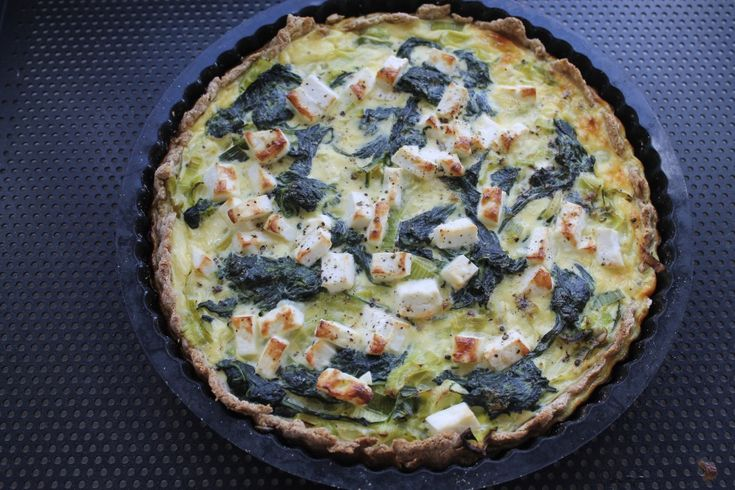 Sund spinattærte med porrer og feta   Anna-Mad blog