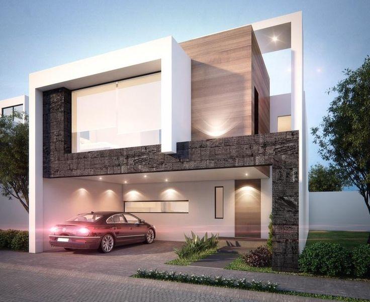 Las 25 mejores ideas sobre fachadas de casas modernas en for Casa minimalista 2018