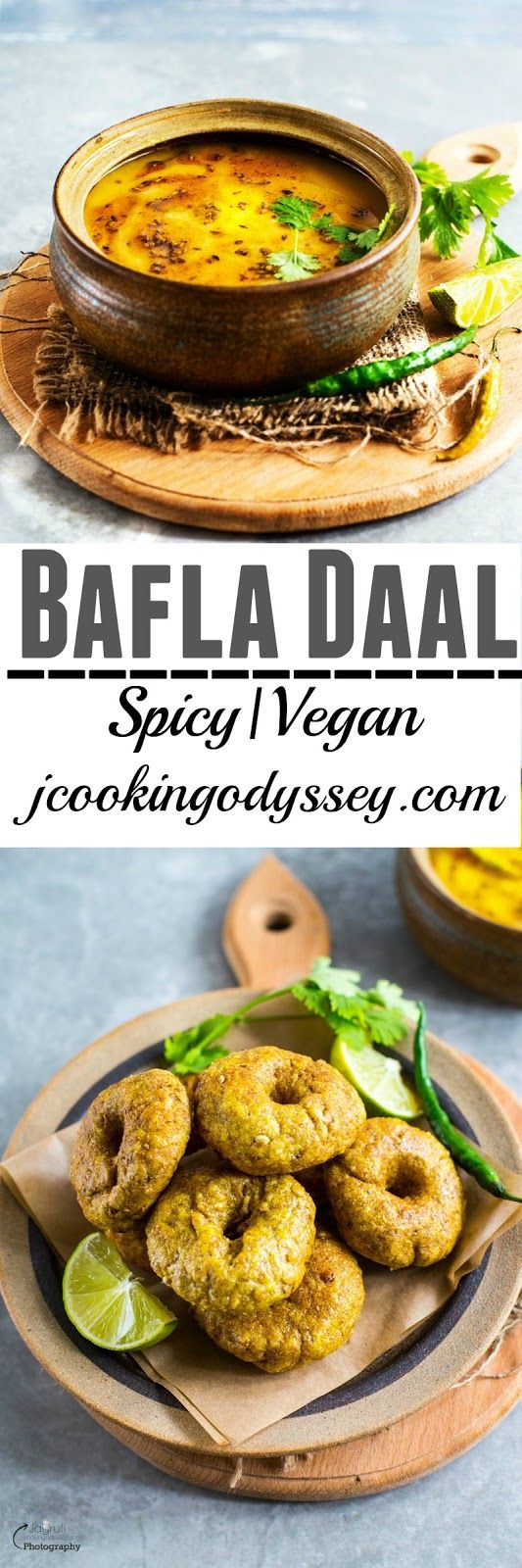 Jagruti's Cooking Odyssey: Daal Bafla - Bafla Baati with Daal - Steamed and Deep Fried Flaky Doughnut with Spicy lentil broth