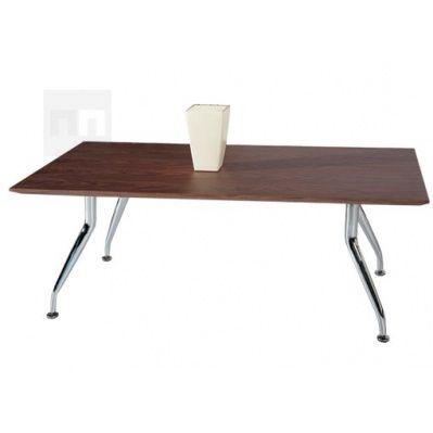Konferenční stůl obdélník, nohy chrom K72 - DOPRODEJ