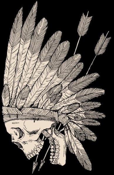 Indian skull. I love this as a tattoo. thigh piece?
