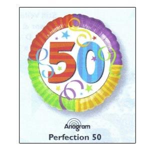 """Perfection 50 Mylar Balloon 18"""""""