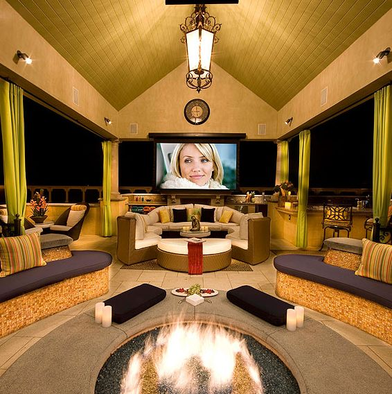 Outdoor media room.