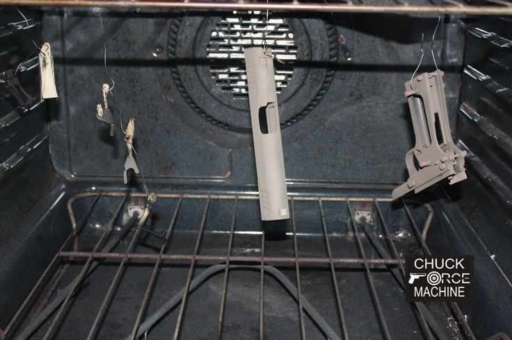 1911 Parts baking in the oven