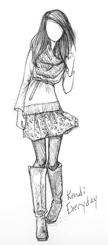Blogger Sketch Sunday [Kendi Everyday], sketches/drawings/art/inspiration/design/fashion