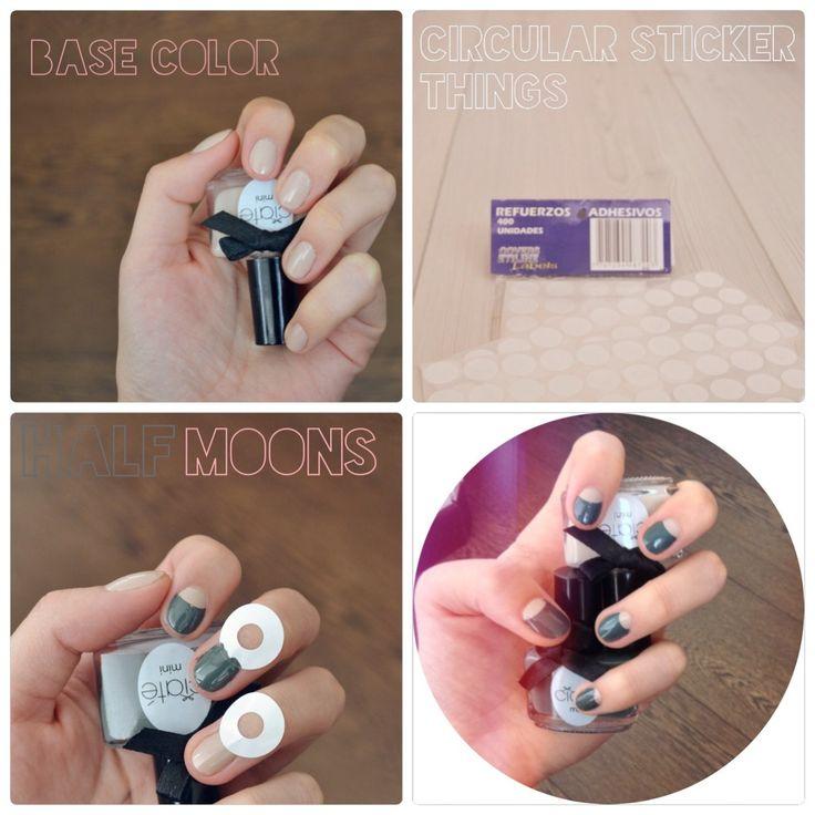 How-t Half Moon #nails #nailart http://do-love-lovedoign.blogspot.com/