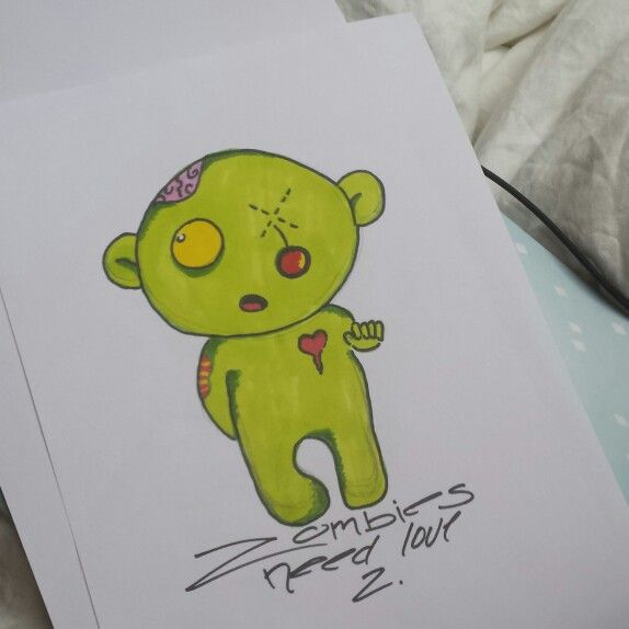 Zombies need love 2. ProMarkers drawing. #Zombie