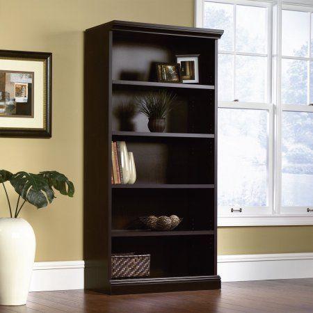 Sauder Bookcase Library, Estate Black Finish