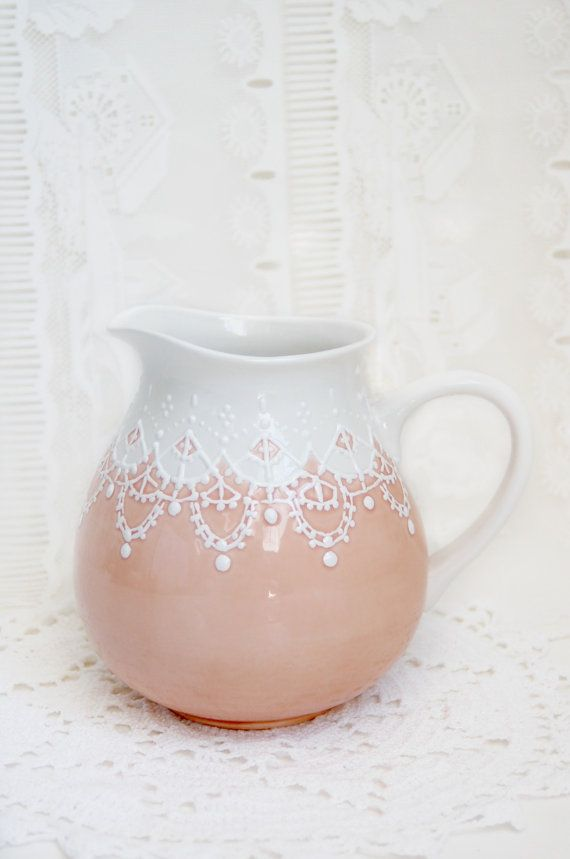Victorian styled water pitcher by Dprintsclayful on Etsy