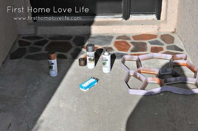 """<a href=""""http://www.firsthomelovelife.com/2012/06/reeeeeemix-front-door-edition.html"""" target=""""_blank""""><strong>Front Door Concrete Makeover from First Home Love Life</strong></a>"""