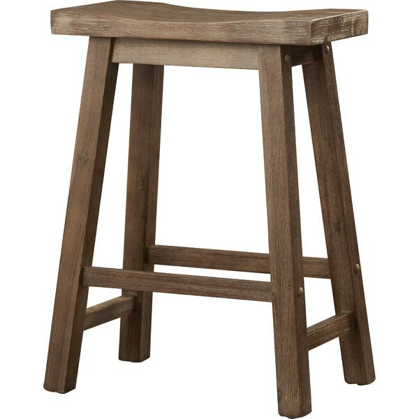 Defined By A Saddle Style Seat This 24 Counter Height Stool Lends A Touch Of Simple Sophistication To Counter Height Bar Stools Bar Stools Kitchen Bar Stools