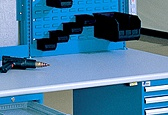 Lista's durable powder coat finish is available in three ESD colors – Bright Blue, Black and Light Gray.