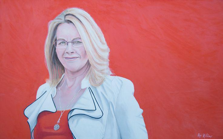 Portrait of Dianne. Oils on fine cotton duck.