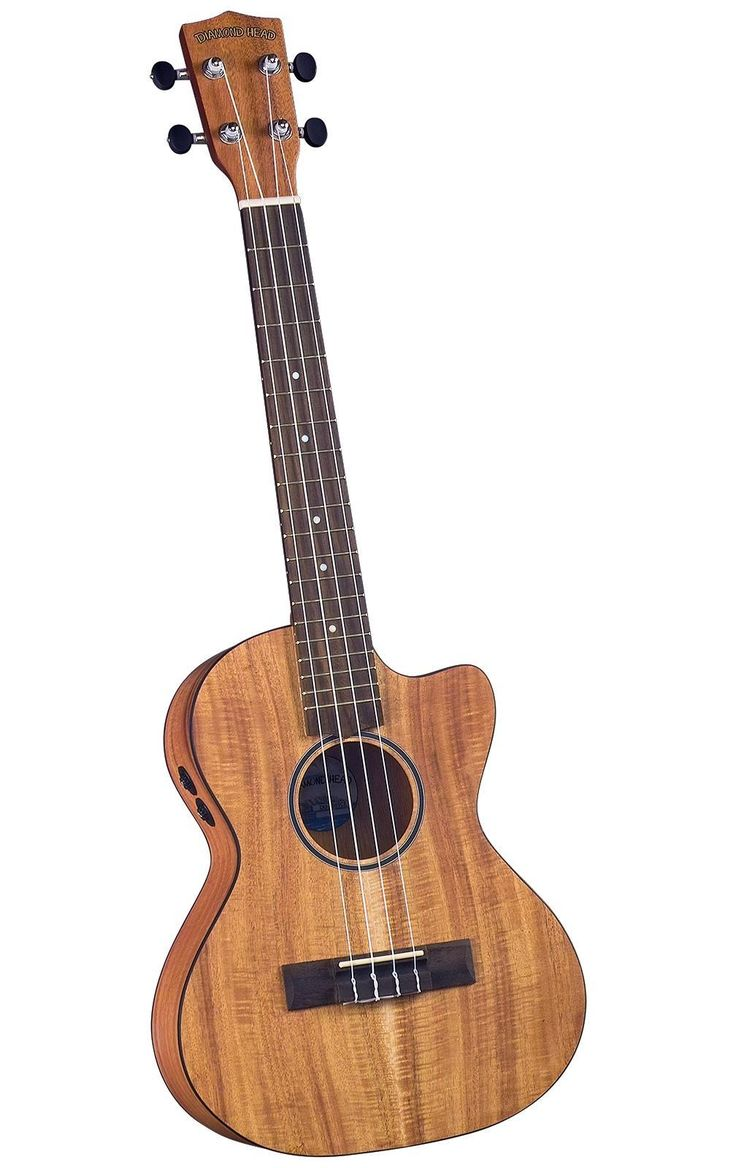 Flamed Acacia (Koa) Wood Acoustic/Electric Tenor Ukulele