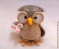 """Мастер-класс, описание """"Сова Генриетта"""" (вязание крючком) - сова,вязаная игрушка"""