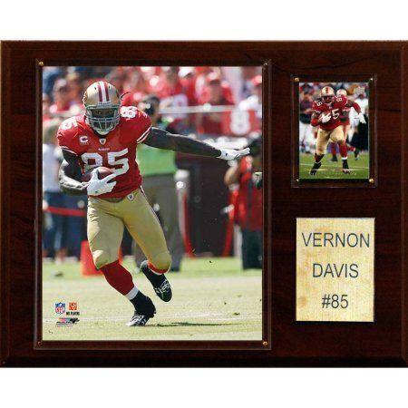 C Collectables NFL 12x15 Vernon Davis San Francisco 49ers Player Plaque