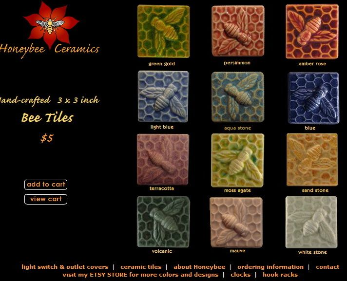 Ceramic Tiles From Honeybee Ceramics