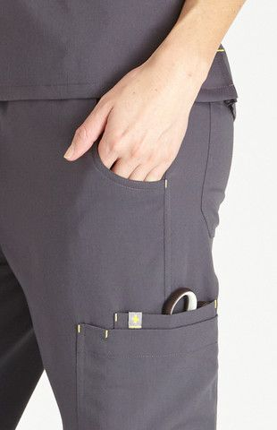 FIGS Women's Fizi Skinny Scrub Pants-Charcoal