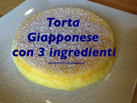 Torta giapponese con 3 ingredienti - YouTube