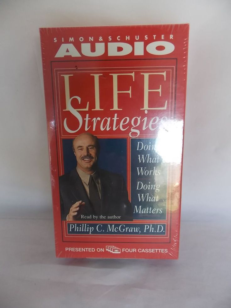 DR PHILLIP MCGRAW: Life Strategies (1999, 4 Cassette) BRAND NEW: Life Matters