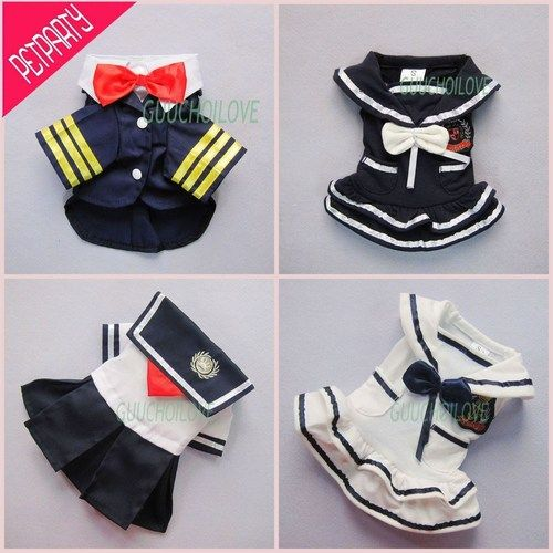 Stylish Nautical Sailor for Dog Clothes