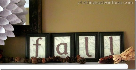 Fall Mantel 2012