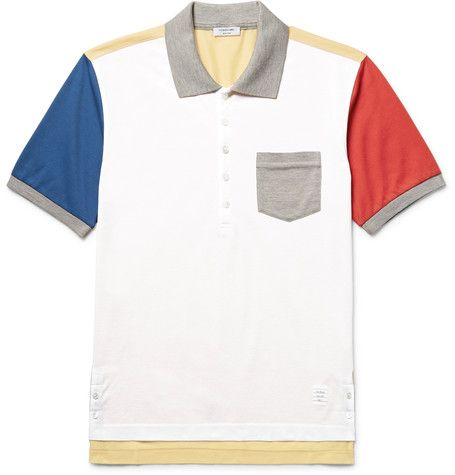 <a href='http://www.mrporter.com/mens/Designers/Thom_Browne'>Thom Browne</a> may be known for its signature grey suits, but the label certainly doesn't shy away from working in colour. This polo shirt has been made in Japan from breathable cotton-piqué and comes in the label's 'Fun Mix' of primary hues. It's cut slim and has mother-of-pearl buttons for a polished finish.