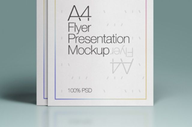 This is a A4 presentation psd flyer mockup to help you showcase great mini A4 poster and flyer. It uses smart...