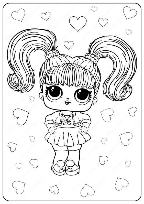 free printable lol surprise oops baby coloring pages in