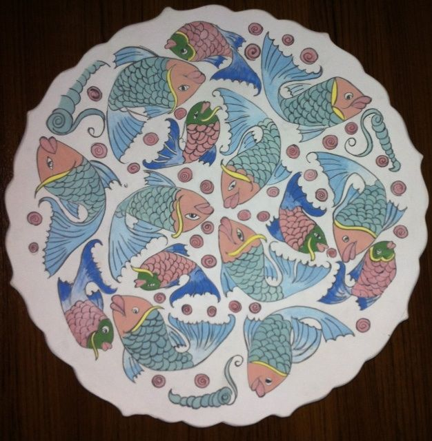 MADE BY Benian arsiray @benianarsiray  çini balık fish ceramic tile pottery