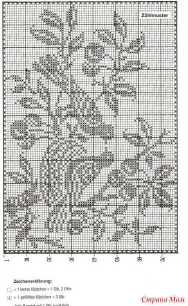 филейные узоры 2 вязание страна мам Filet Crochet Filet