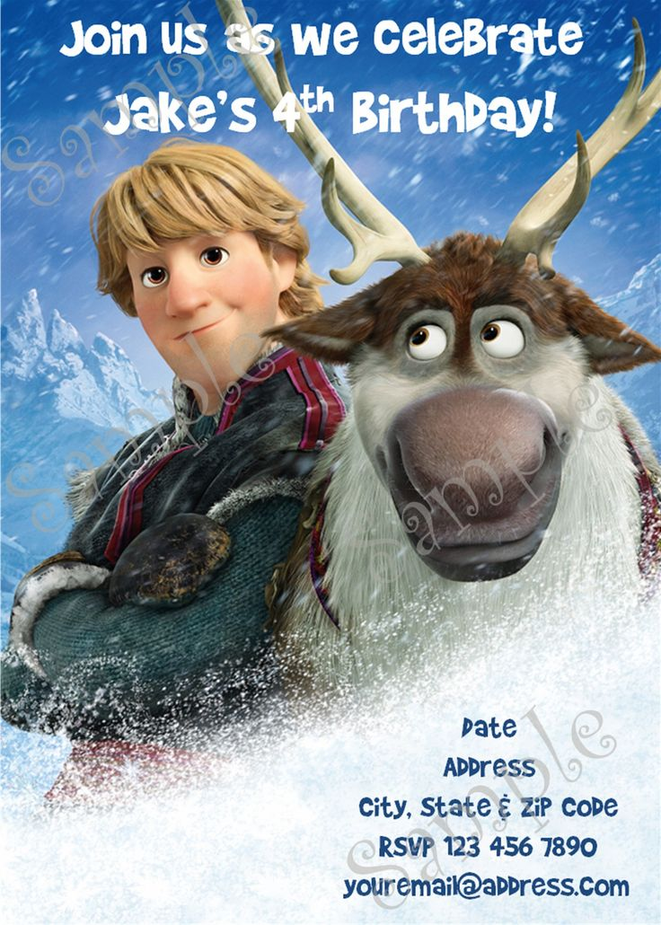 16 best Disney Frozen images on Pinterest   Birthday invitations ...