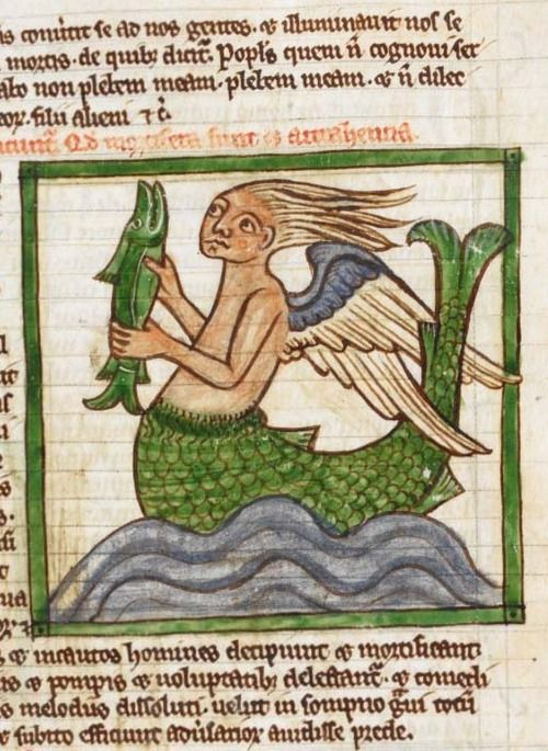 British Library, Harley 3244, detail of f. 55r. Bestiary....