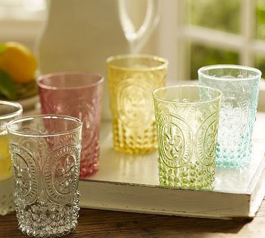 Pottery Barn's Victorian Tumblers (vintage looking)